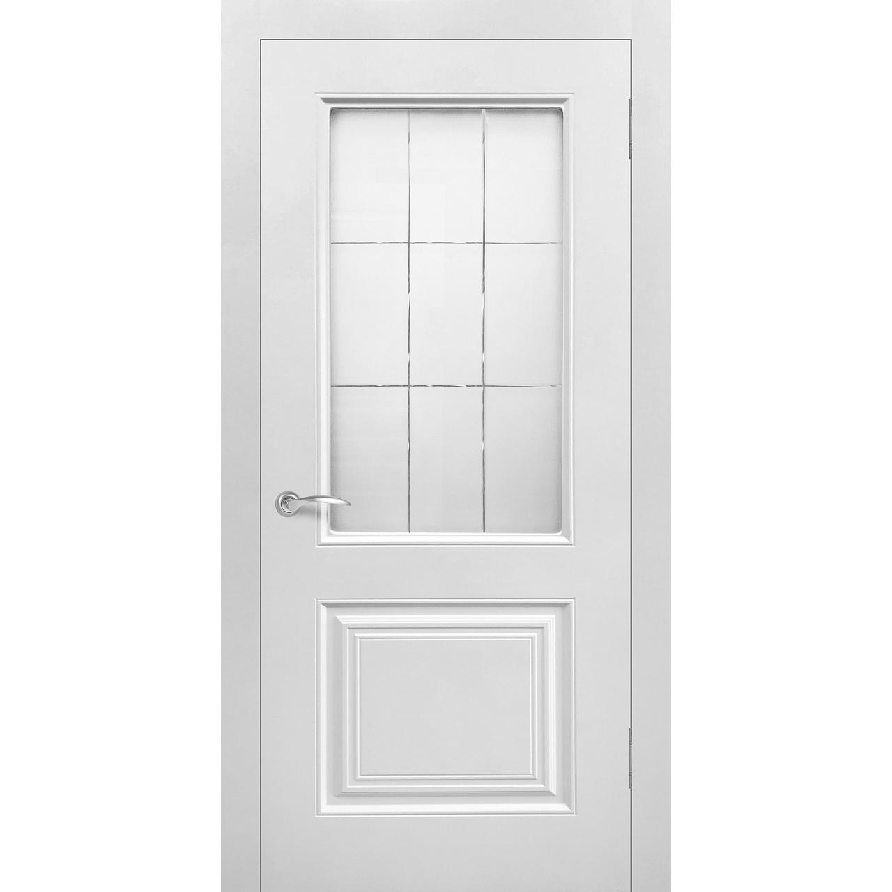 Межкомнатная дверь винил «Роял 2» (со стеклом)