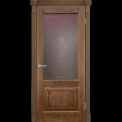 Межкомнатная дверь «Шервуд 3D» натуральный шпон (со стеклом)