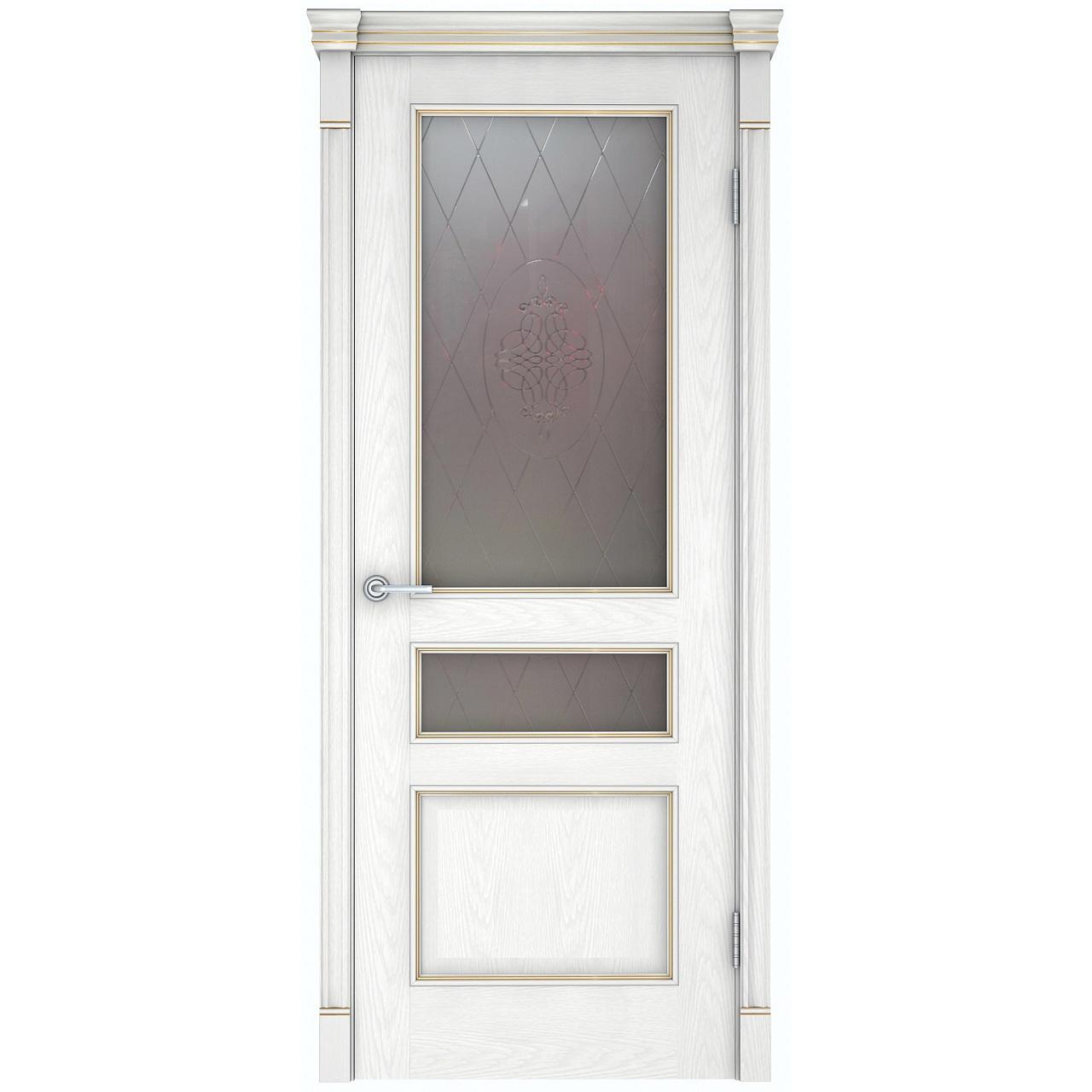 Межкомнатная дверь «Шервуд 3» натуральный шпон (со стеклом)