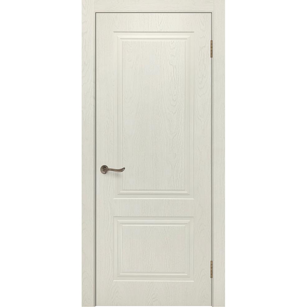 Межкомнатная дверь «Сити 5 RAL 9001» натуральный шпон (глухая)