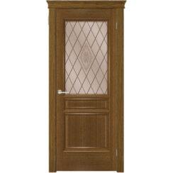 Межкомнатная дверь «Тридорс» натуральный шпон (со стеклом)