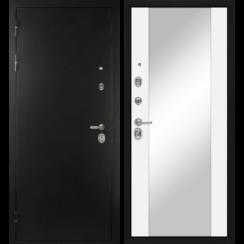 Входная металлическая дверь «МД-40» с зеркалом (белый софт)