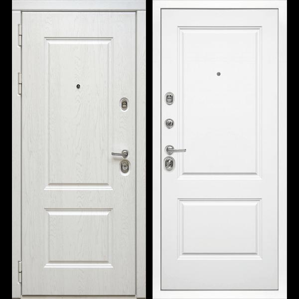 Входная металлическая дверь «МД-44» (белый софт)