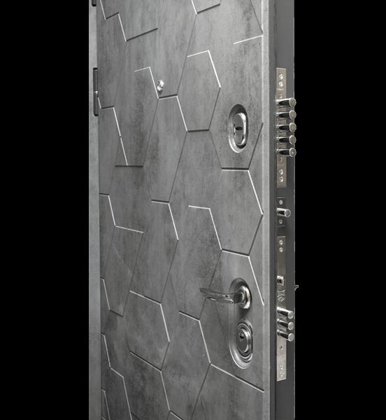 Входная металлическая дверь «МД-51» с зеркалом (белый софт)