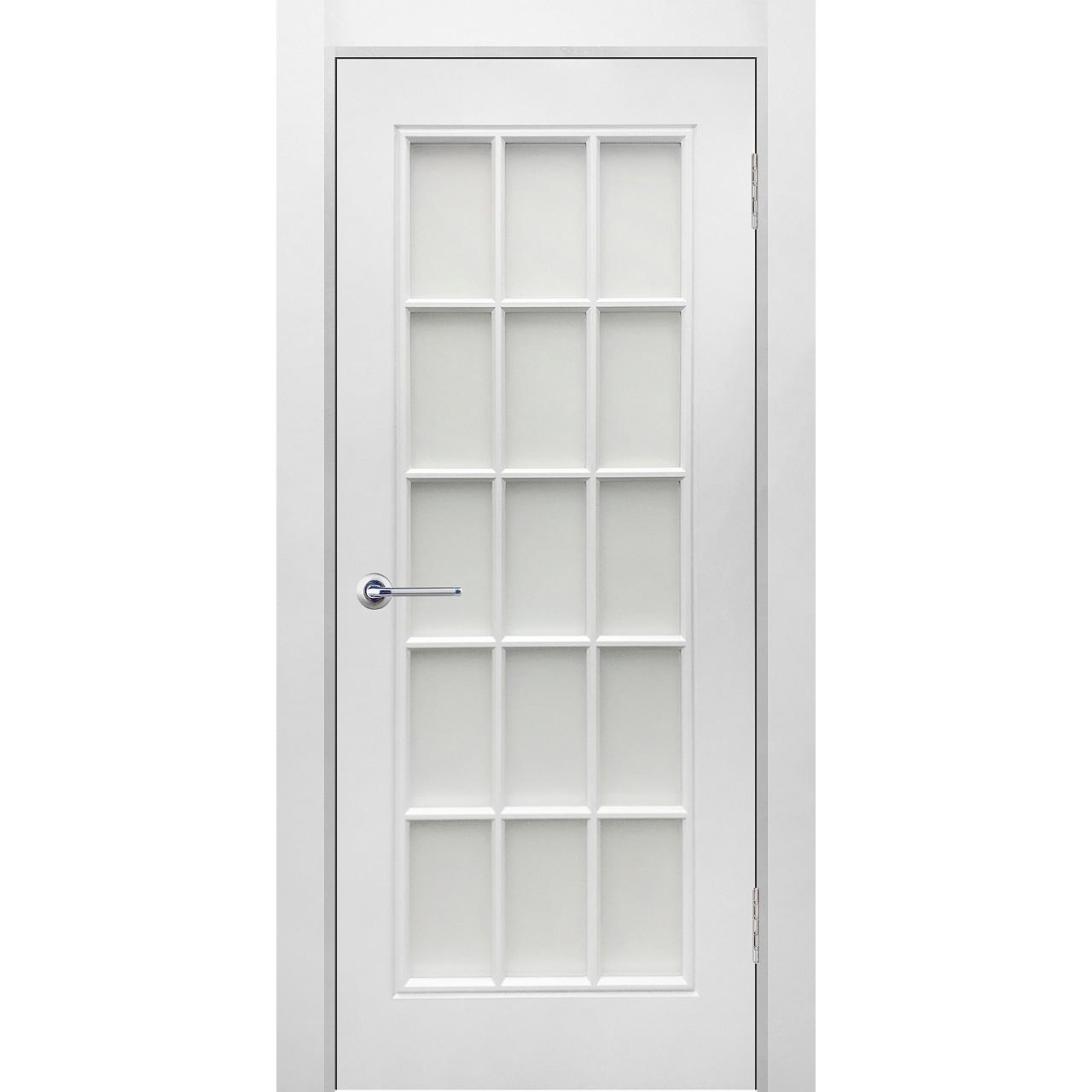 Межкомнатная дверь эмаль классика фреза «Британия 1» (со стеклом)