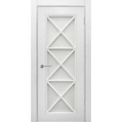 Межкомнатная дверь эмаль классика фреза «Британия 2» (со стеклом)