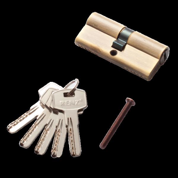 Личинка для замка RENZ перфорированный ключ/вертушка 70мм