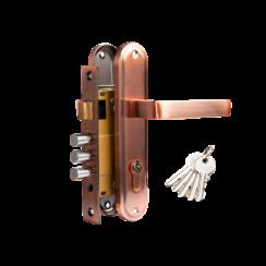 Комплект дверной TIXX (прямая ручка, замок с 3 ригелями и защелкой)