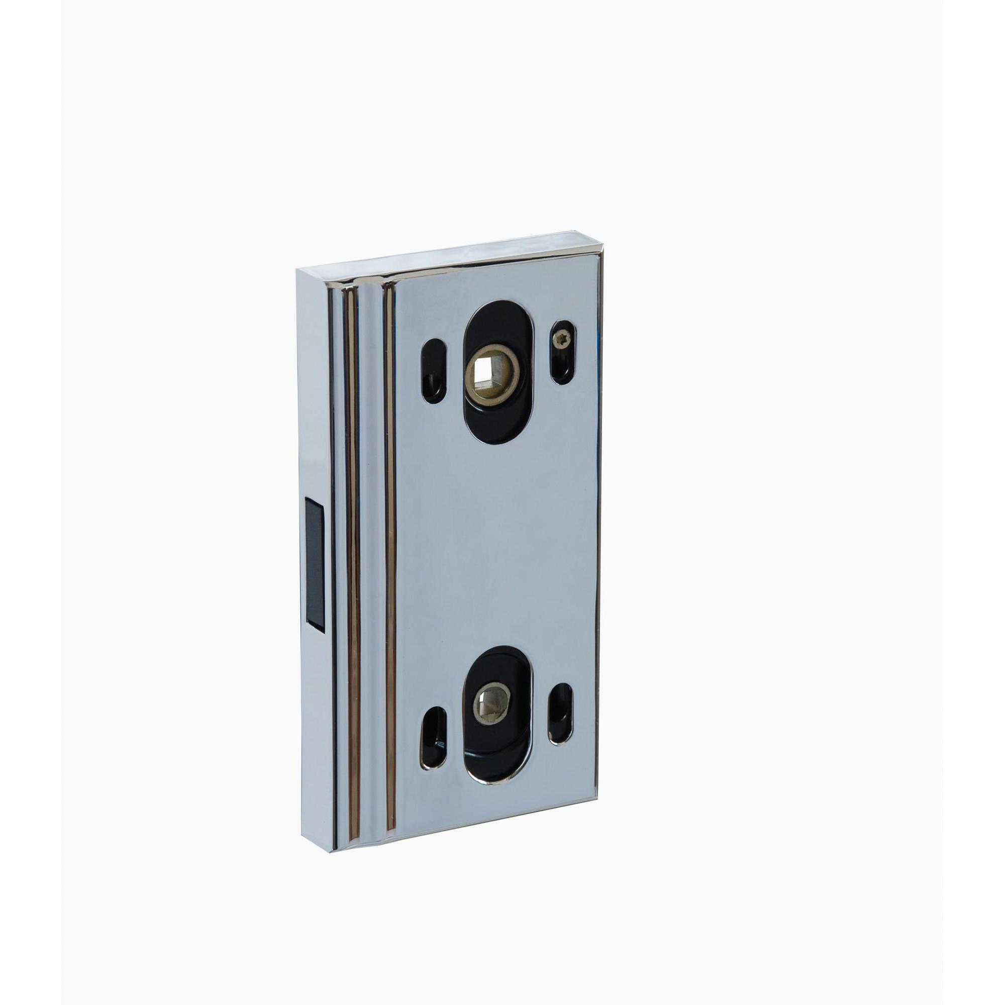 Защёлка для стеклянных дверей магнитная с корпусом