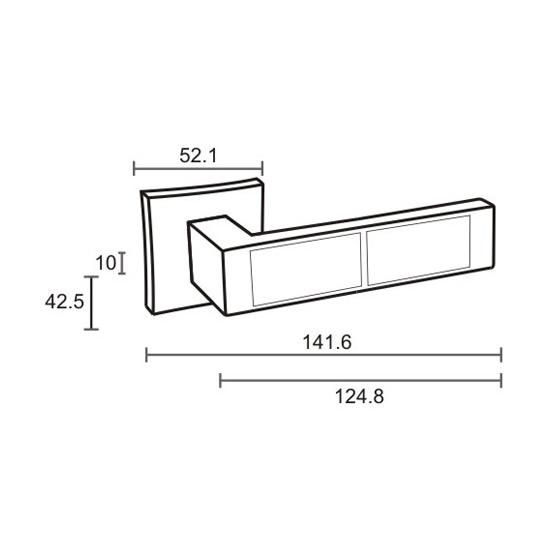 Дверная ручка ORO&ORO «IN923-13»