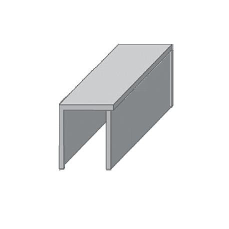 """Направляющая нижняя """"INM 2"""" для раздвижных дверей П-образная длина (2 метра)"""