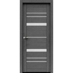 """Межкомнатная дверь экошпон """"Матрикс М-78"""" (стекло сатинато)"""