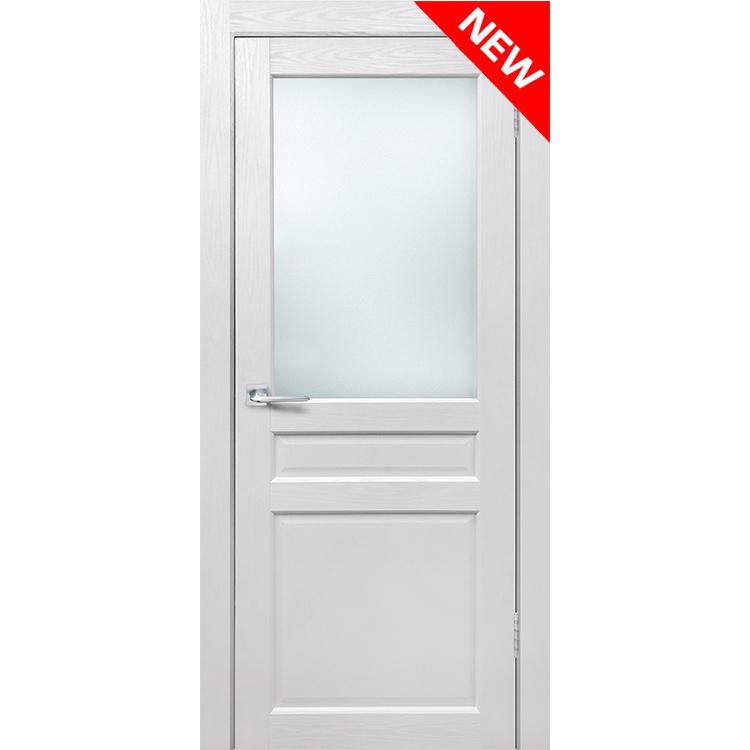 Межкомнатная дверь экошпон «Матрикс МК-1» стекло сатинато