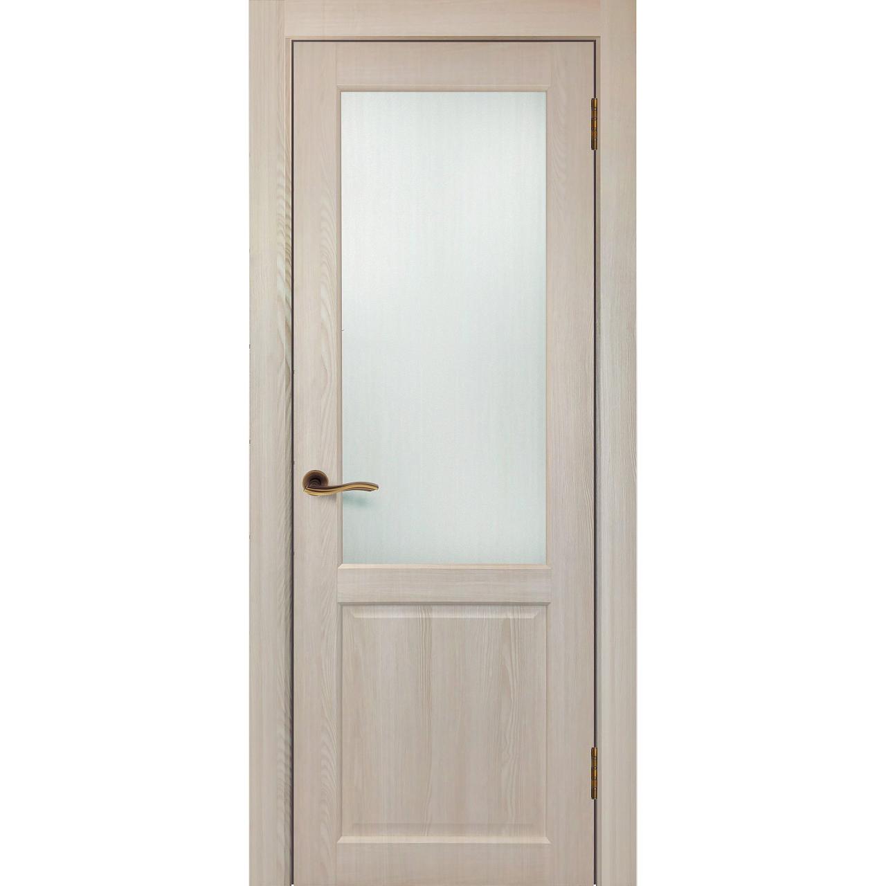 Межкомнатная дверь экошпон «Матрикс МК-7» стекло сатинато