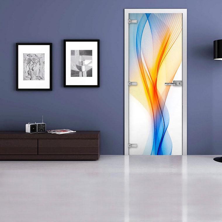Межкомнатная стеклянная дверь «Abstraction-01»