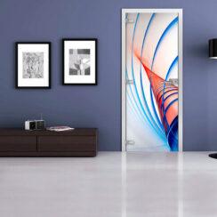Межкомнатная стеклянная дверь «Abstraction-02»