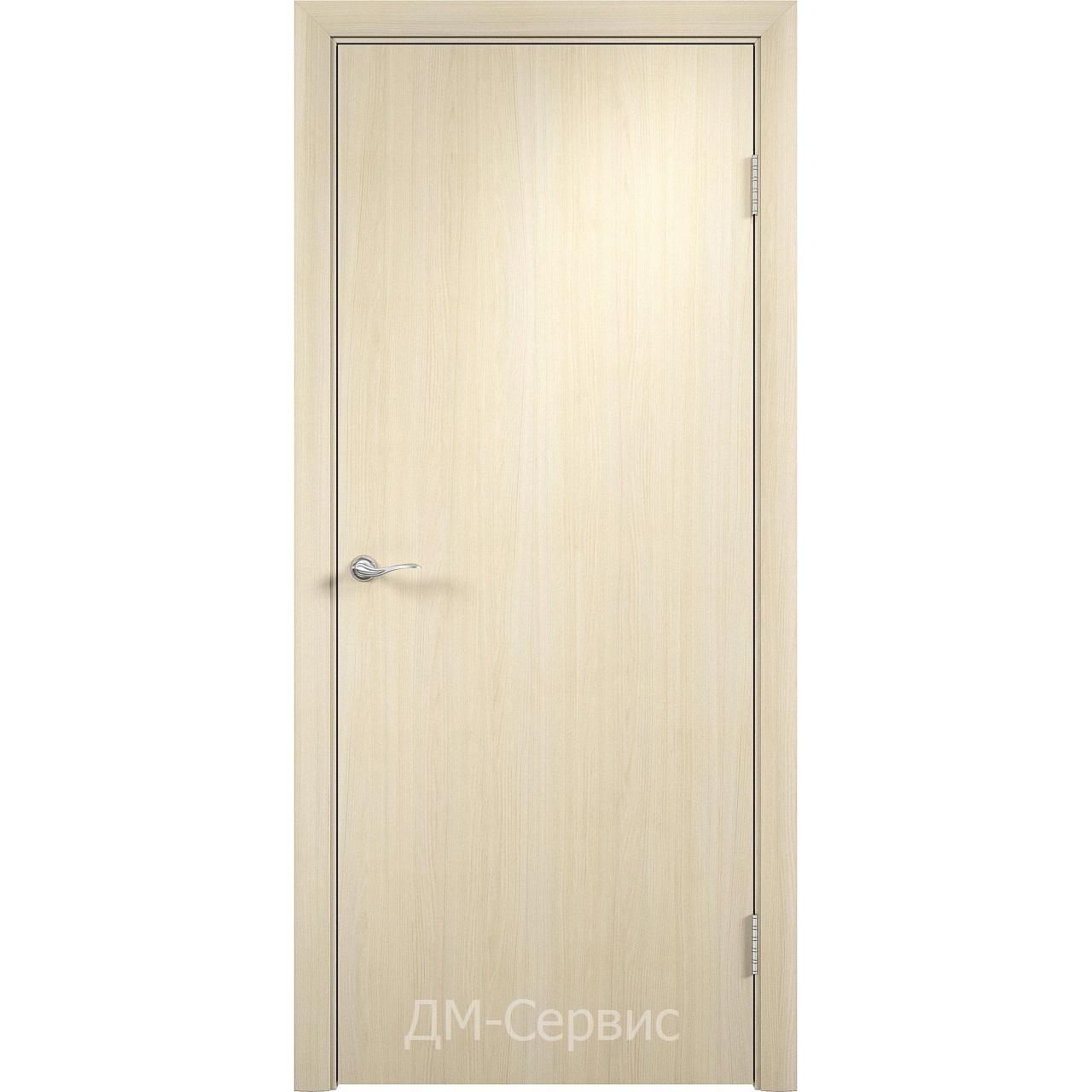 Строительный дверной блок с четвертью ДПГ ПВХ гладкий
