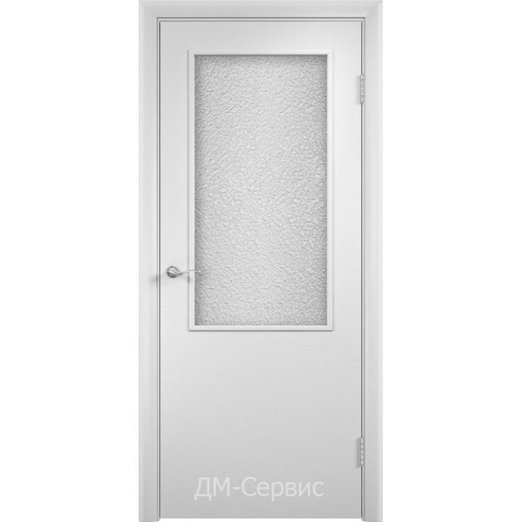Блок дверной строительный остеклённый с притвором ДПО 58 финиш-плёнка