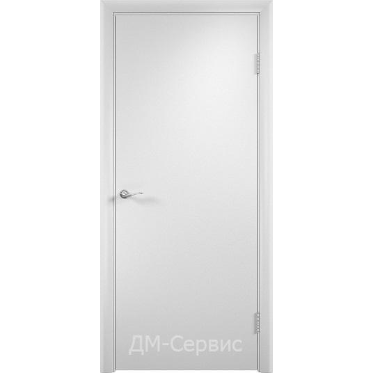 Блок дверной строительный с прямым торцом ДПГ гладкий ПВХ