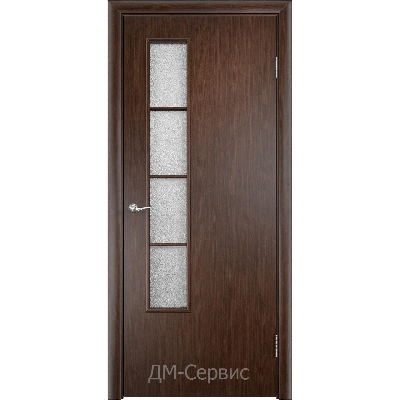 Дверной строительный остеклённый блок с четвертью ДПО 05 финиш-плёнка