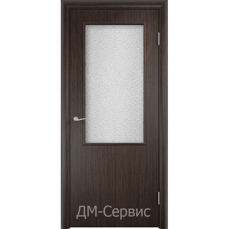 Строительный дверной блок с прямым торцом ДПО 58 ламинированный