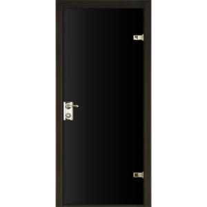 Черная зеркальная дверь