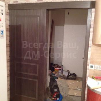 Одностворчатая раздвижная дверь Марсель 3 в открытом положении