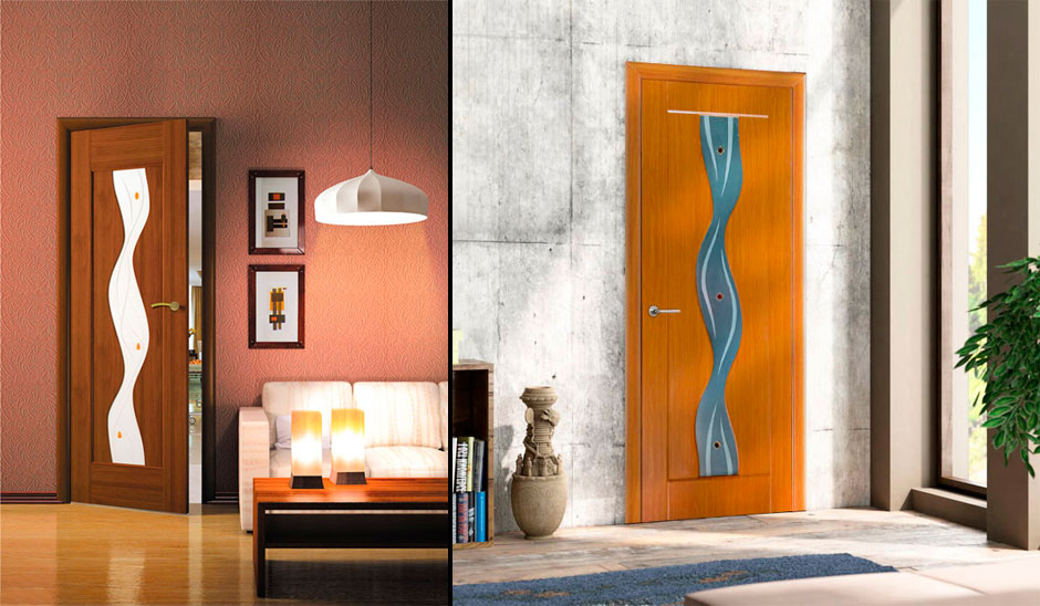 Двери с покрытием ПВХ в интерьере