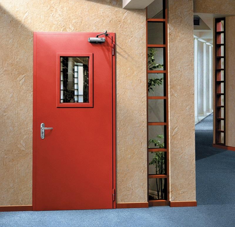 металлическая дверь в электрощитовую