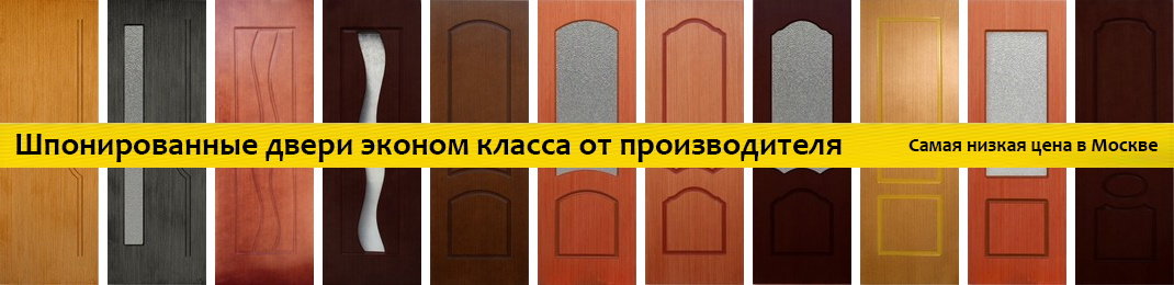Шпонированные двери эконом класса от производителя