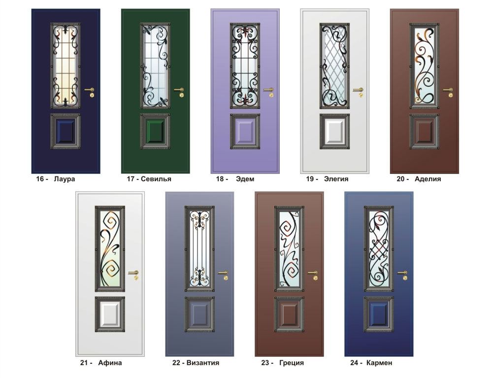 двери входные металлические окошко