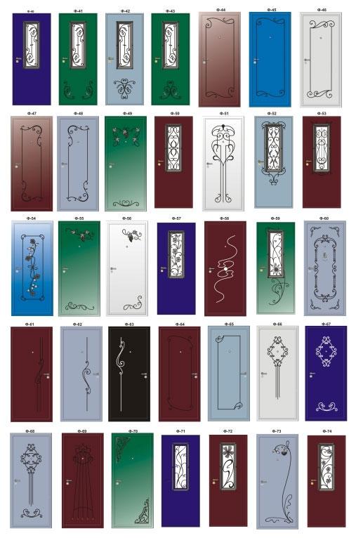 варианты ковки железных дверей