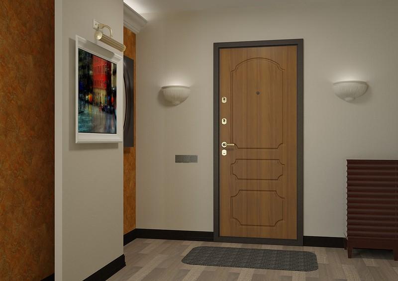 Железная входная дверь с МДФ отделкой
