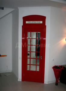 Дверь телефонная будка