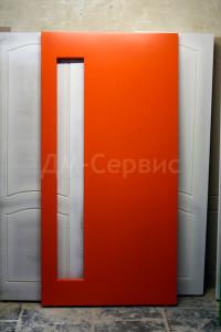 Крашенная дверь под остекление
