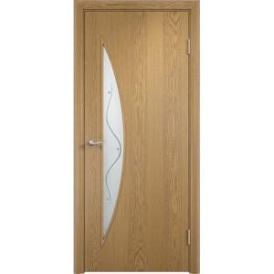 Дверь экошпон Casaporte C-06 Ф (светлый дуб)