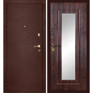 Входная металлическая дверь МД-09 (медь) с зеркалом