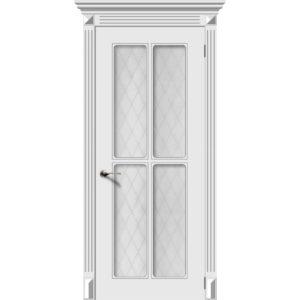 Дверь эмаль Ретро-4, со стеклом
