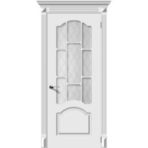 Дверь эмаль Сюита, со стеклом