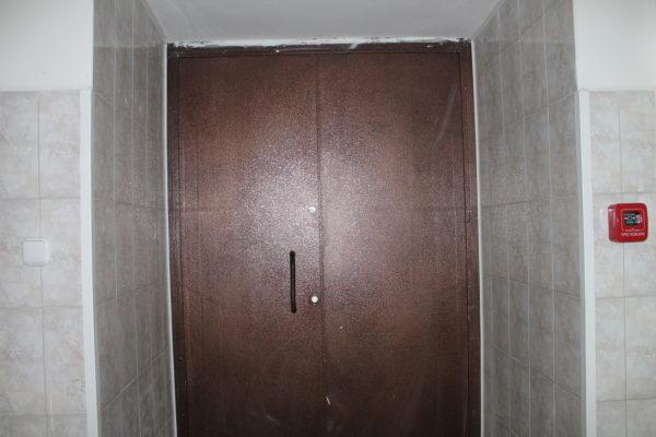 Входные железные двери в Московской столовой