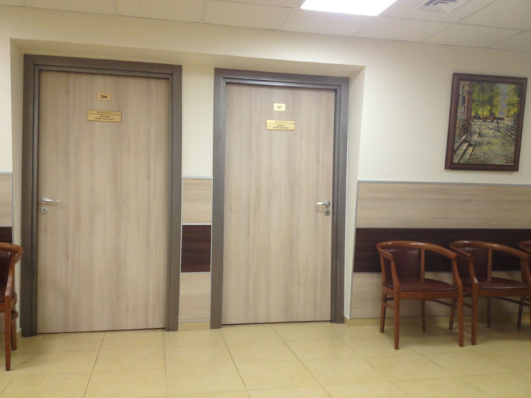 Двери облицованные пластиком CPL для офиса